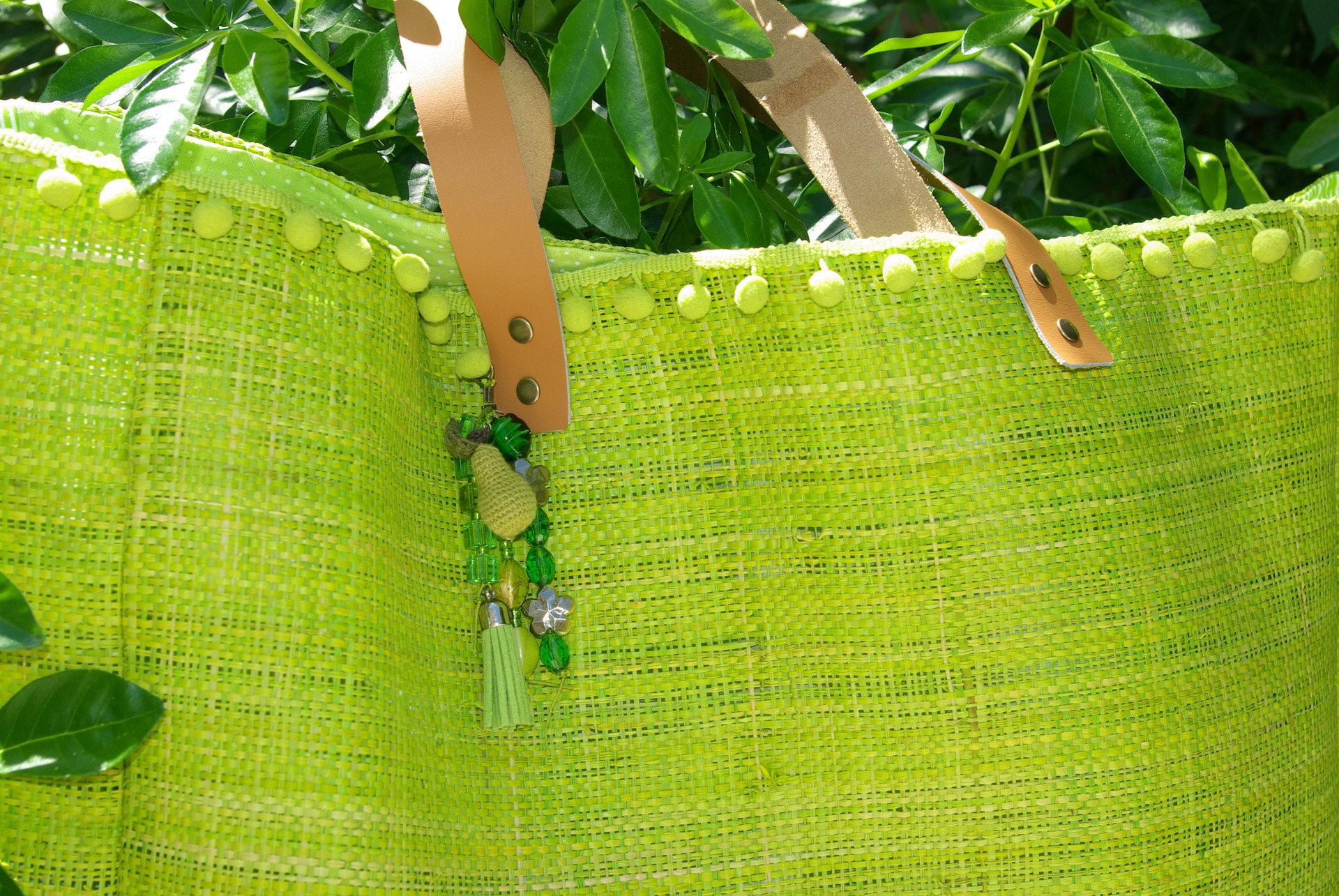 Sac VAÏANA rabane naturelle verte