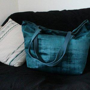 SAUSALITO en velours bleu turquoise