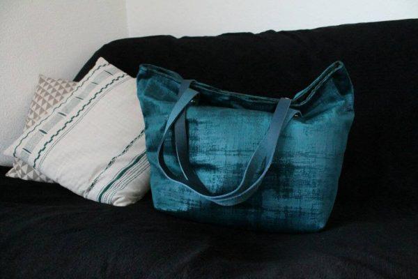 Sac SAUSALITO velours turquoise